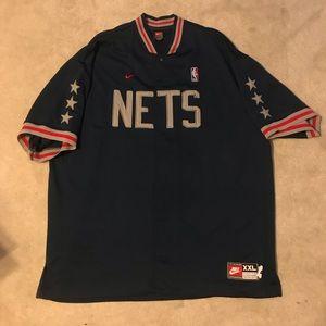 Vintage New Jersey nets swingman warm up